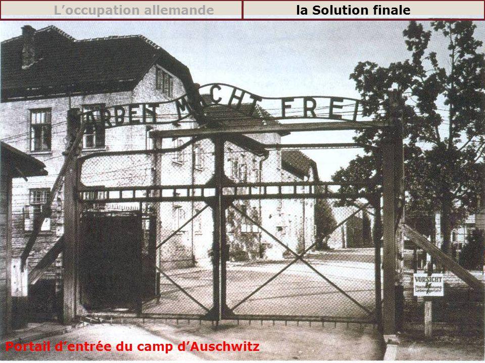 Portail dentrée du camp dAuschwitz Loccupation allemandela Solution finale