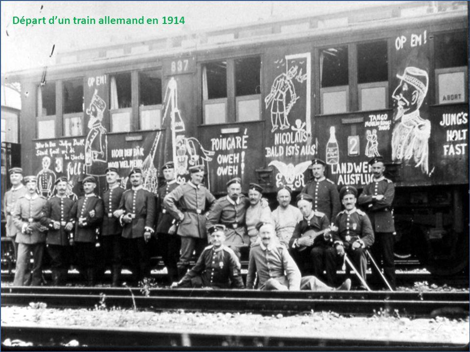 Départ dun train allemand en 1914