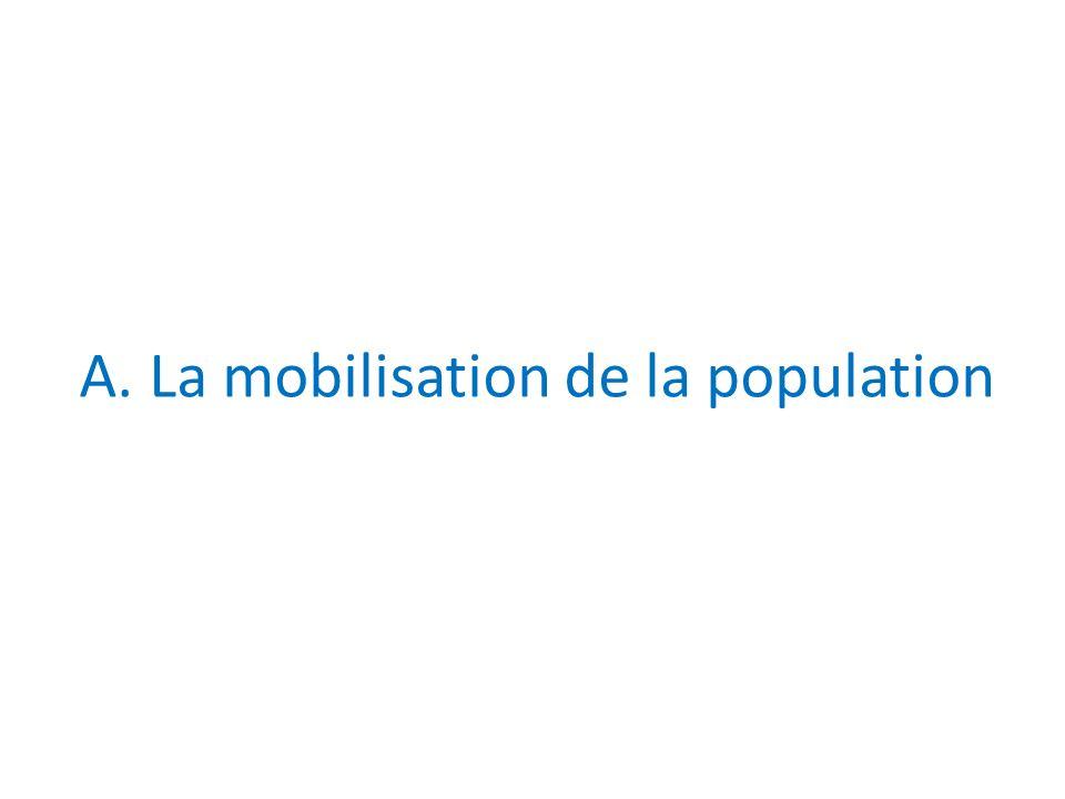 A. La mobilisation de la population
