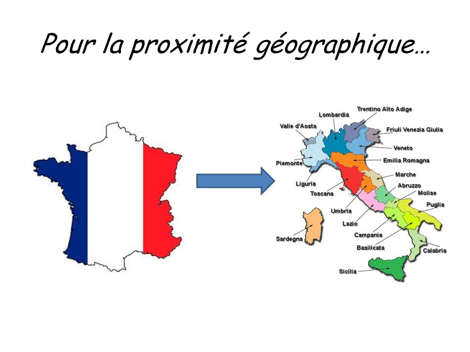 Pour la proximité géographique…