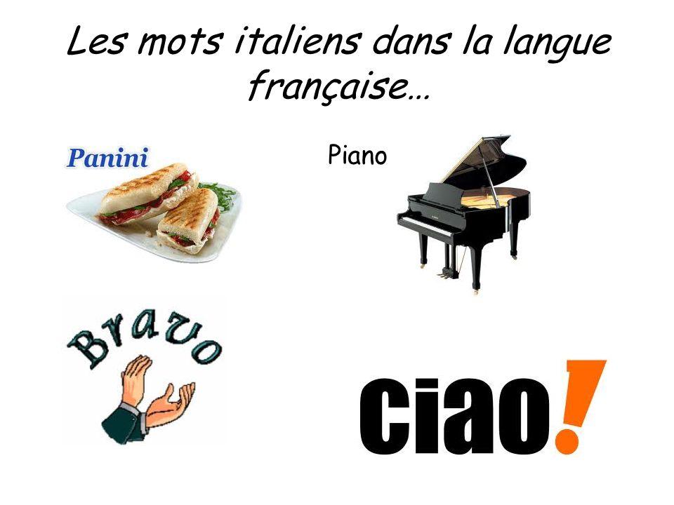 Les mots italiens dans la langue française… Piano