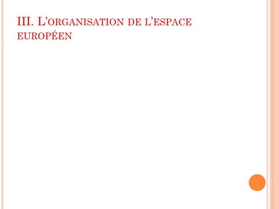 III. L ORGANISATION DE L ESPACE EUROPÉEN