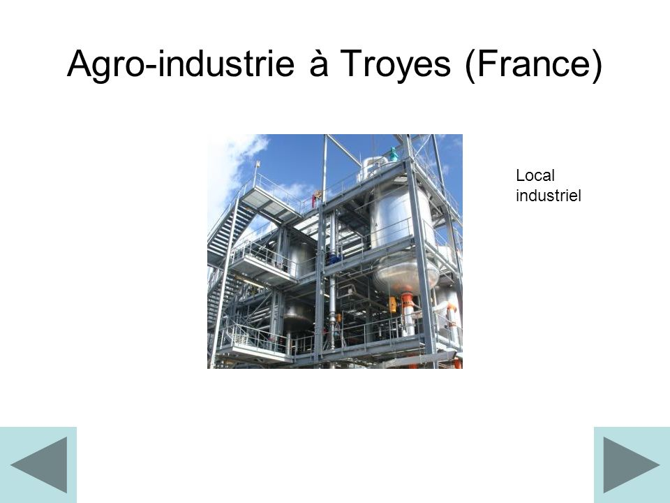 Agro-industrie à Troyes (France) Local industriel