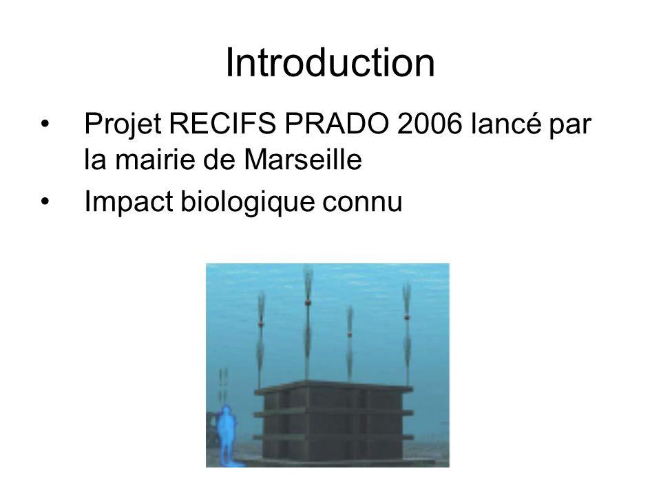 Introduction Projet RECIFS PRADO 2006 lancé par la mairie de Marseille Impact biologique connu