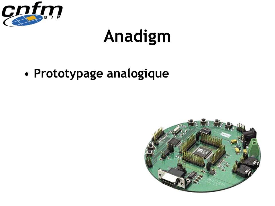 Anadigm Prototypage analogique