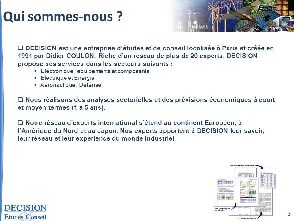 14 Milliard deuros TCAM 2008-2013 MONDE 2008-2013 = 2,7% MONDE 2008-2013 = 2,7% EUROPE 2008-2013 = -0,4% EUROPE 2008-2013 = -0,4% TCAM France 2008-2013 = 1% TCAM France 2008-2013 = 1% Taux de croissance annuelle moyens de la production Spécialisation de la production par zone