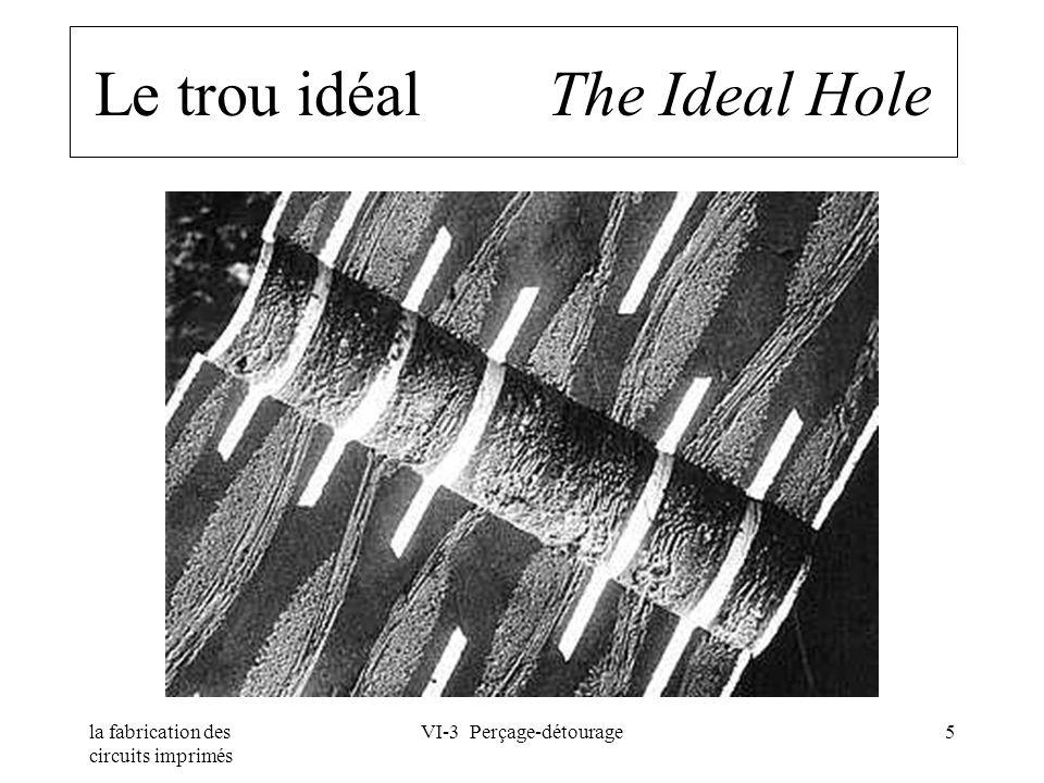 la fabrication des circuits imprimés VI-3 Perçage-détourage5 Le trou idéal The Ideal Hole