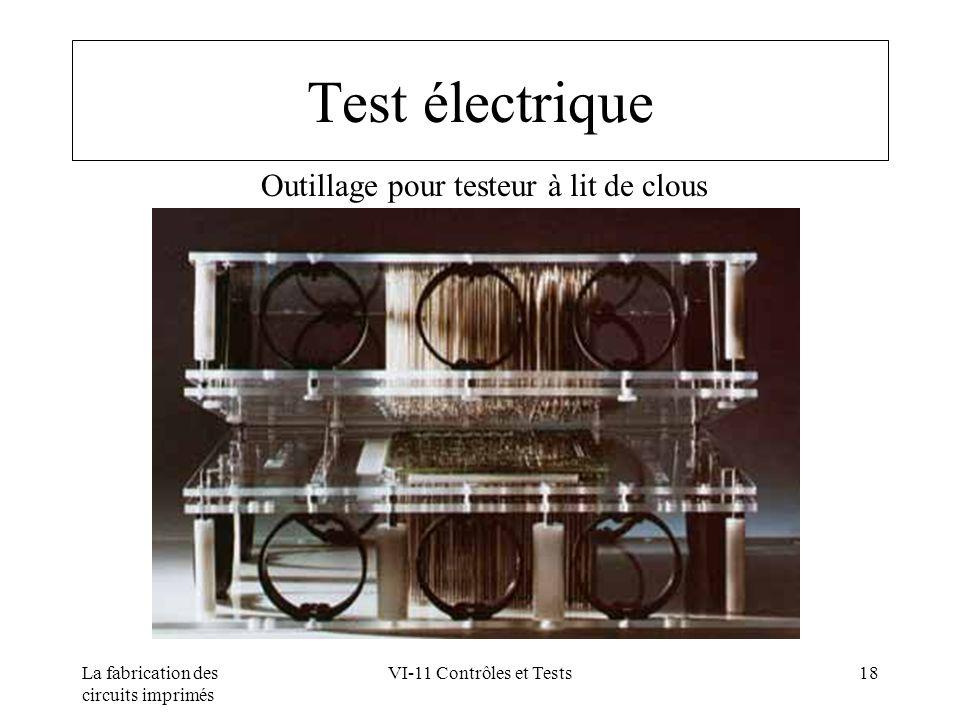 La fabrication des circuits imprimés VI-11 Contrôles et Tests18 Test électrique Outillage pour testeur à lit de clous