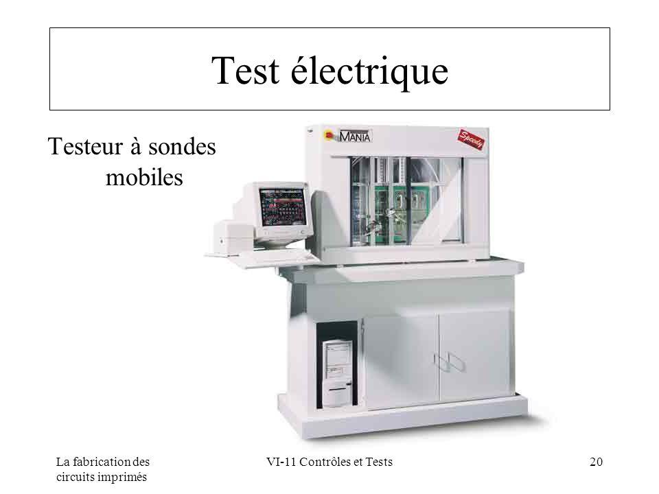 La fabrication des circuits imprimés VI-11 Contrôles et Tests20 Test électrique Testeur à sondes mobiles