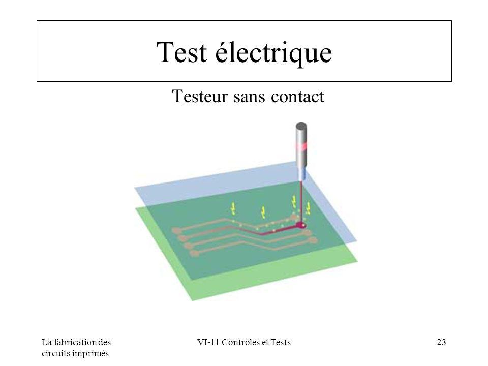 La fabrication des circuits imprimés VI-11 Contrôles et Tests23 Test électrique Testeur sans contact