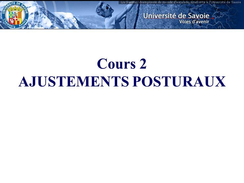 Cours 2 AJUSTEMENTS POSTURAUX