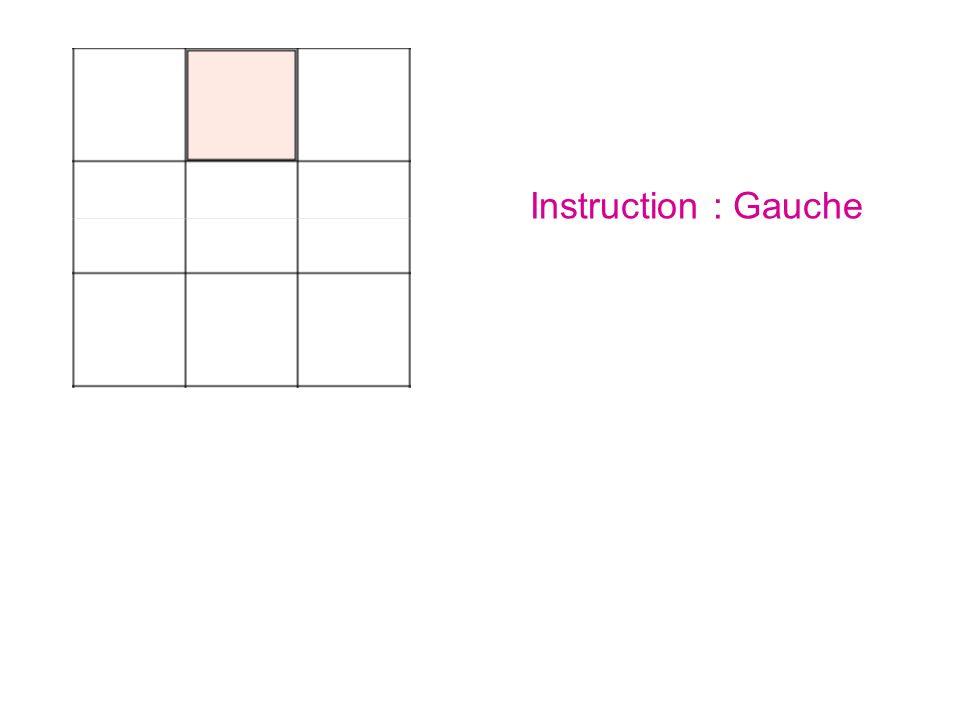 Instruction : Gauche