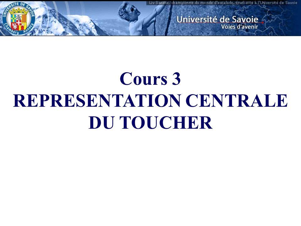 Cours 3 REPRESENTATION CENTRALE DU TOUCHER