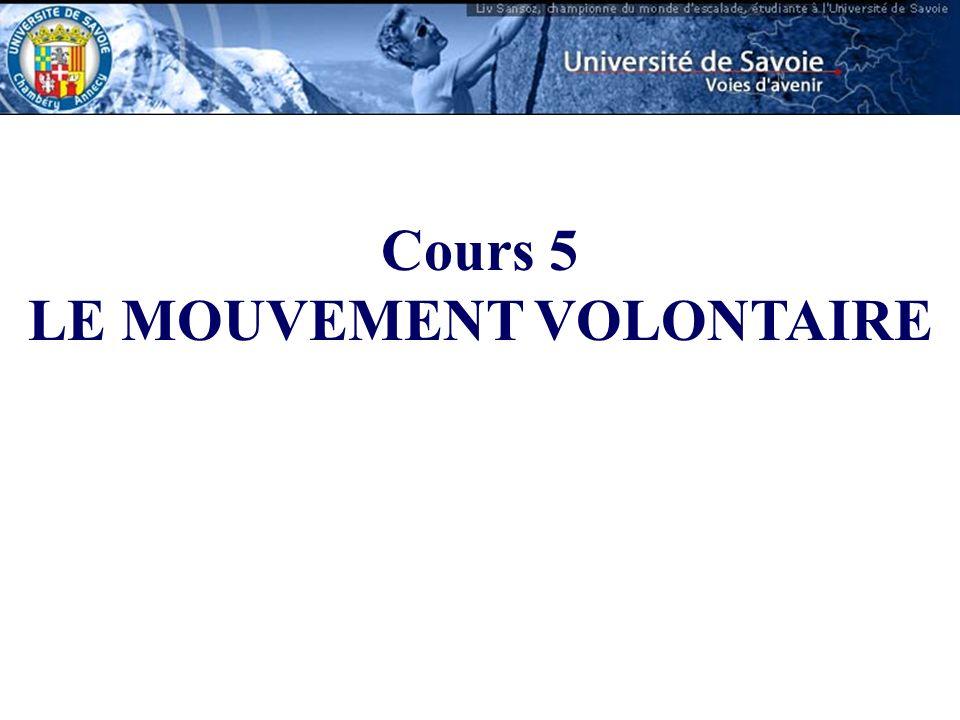 Cours 5 LE MOUVEMENT VOLONTAIRE