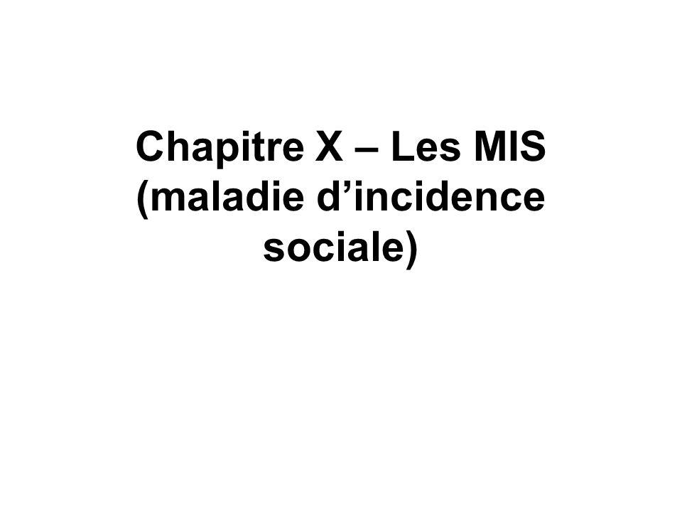 Chapitre X – Les MIS (maladie dincidence sociale)