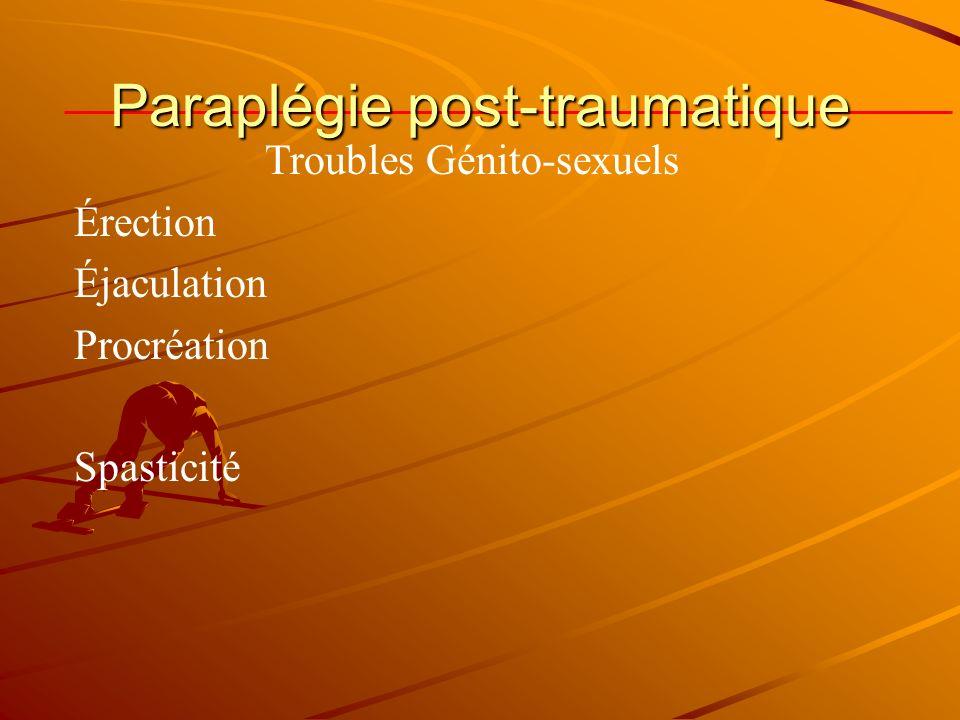 Troubles Génito-sexuels Érection Éjaculation Procréation Spasticité