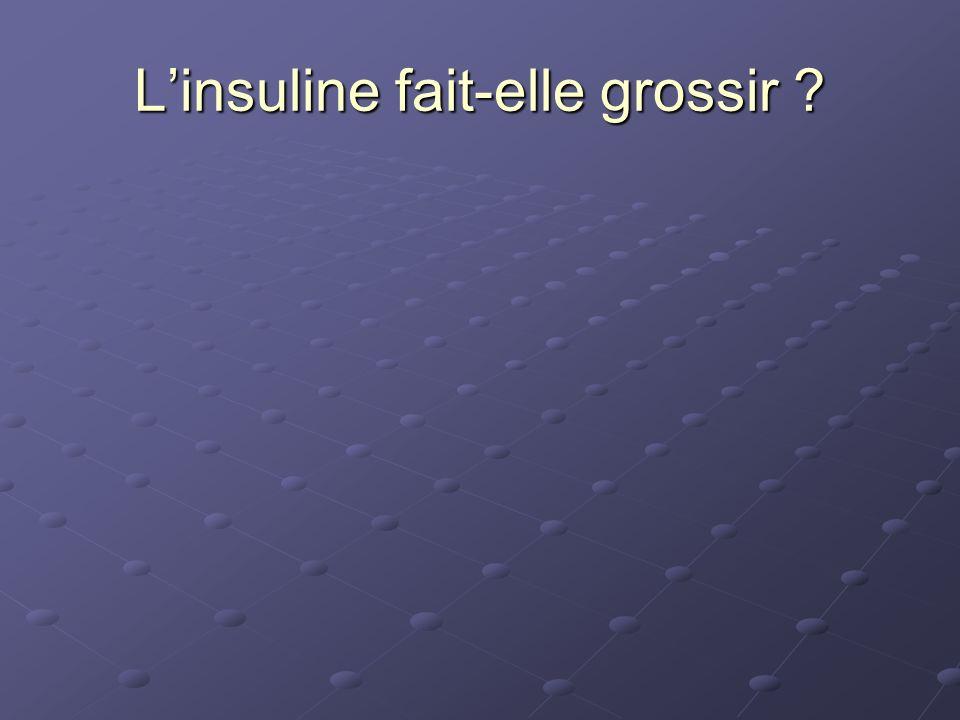 Linsuline fait-elle grossir ?