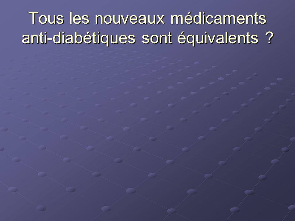 Tous les nouveaux médicaments anti-diabétiques sont équivalents ?