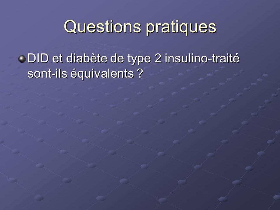 Questions pratiques DID et diabète de type 2 insulino-traité sont-ils équivalents ?
