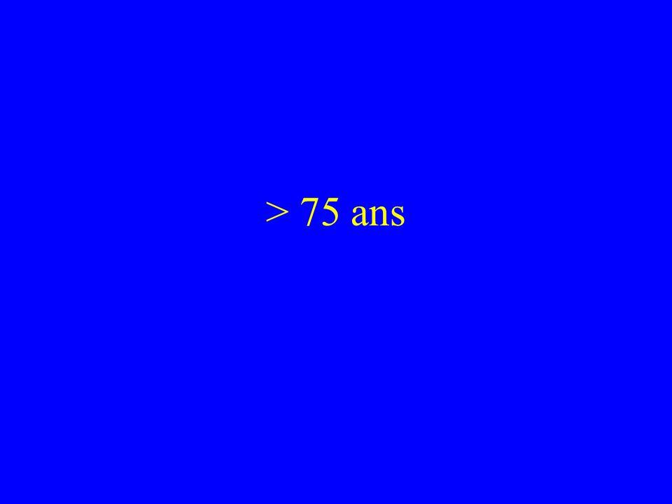 > 75 ans