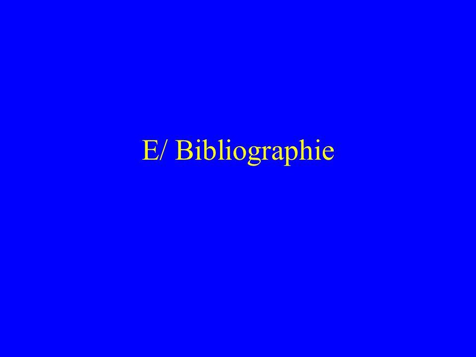 E/ Bibliographie