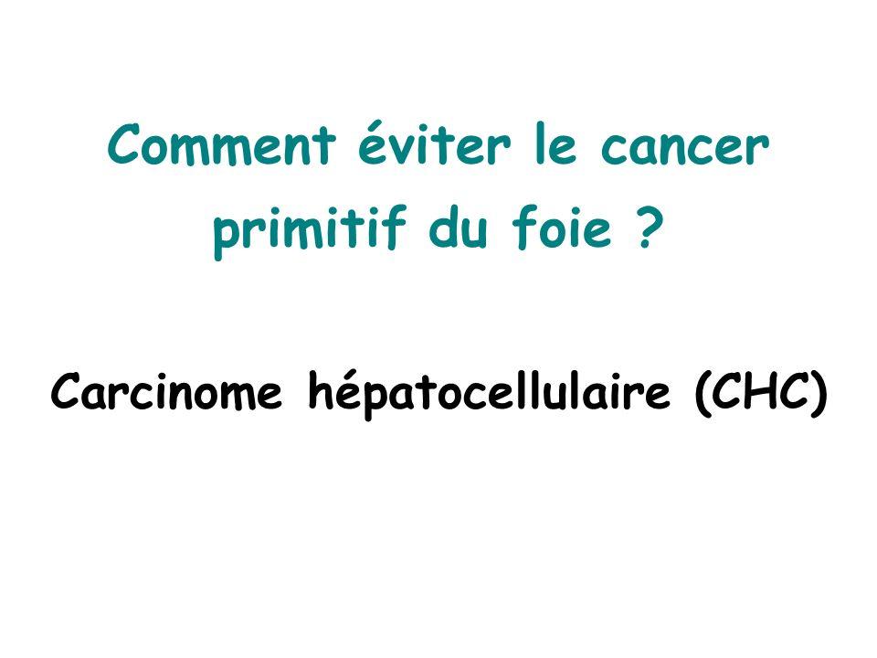 Comment éviter le cancer primitif du foie ? Carcinome hépatocellulaire (CHC)