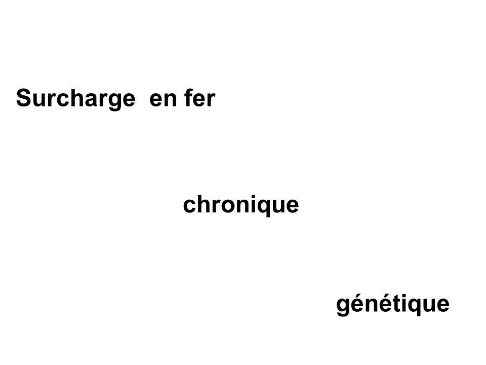 Surcharge en fer chronique génétique