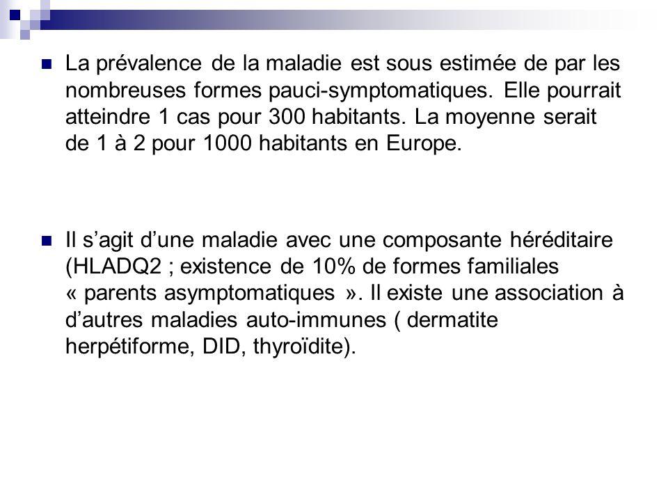 La prévalence de la maladie est sous estimée de par les nombreuses formes pauci-symptomatiques. Elle pourrait atteindre 1 cas pour 300 habitants. La m