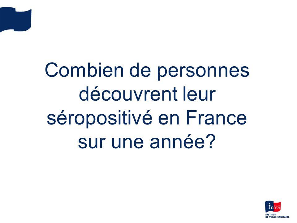 Combien de personnes découvrent leur séropositivé en France sur une année?