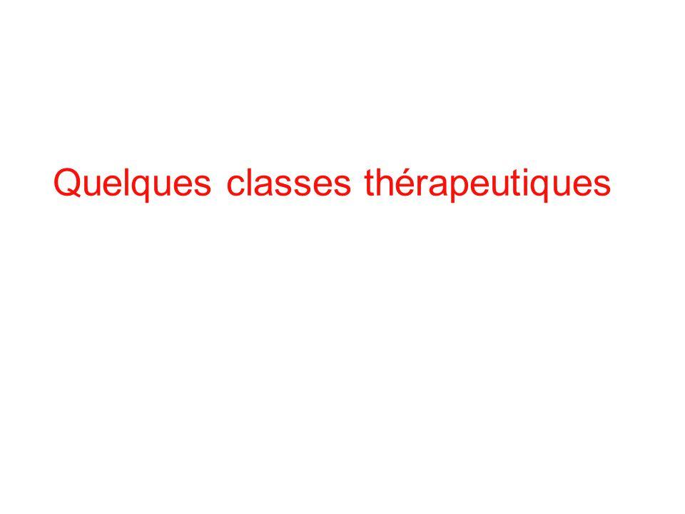Quelques classes thérapeutiques