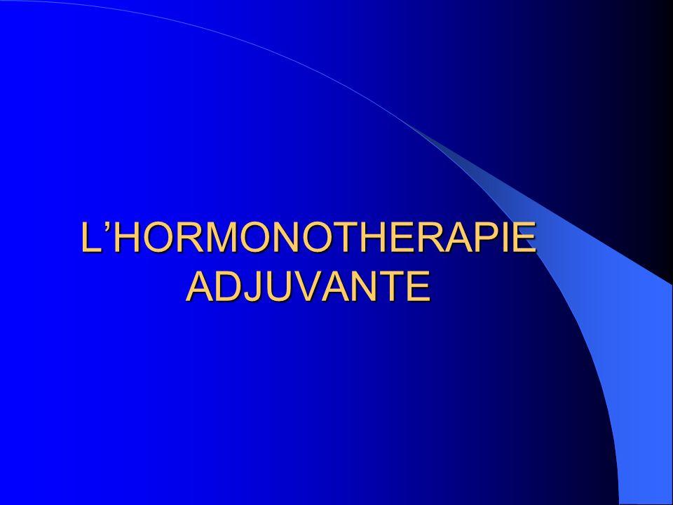 LHORMONOTHERAPIE ADJUVANTE