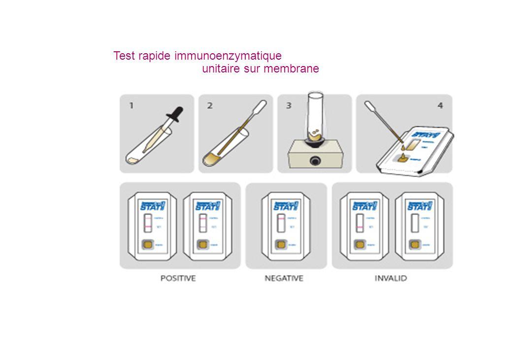 Test rapide immunoenzymatique unitaire sur membrane
