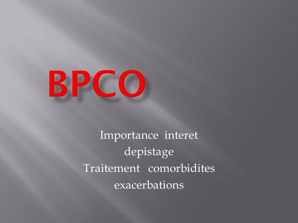 Importance interet depistage Traitement comorbidites exacerbations