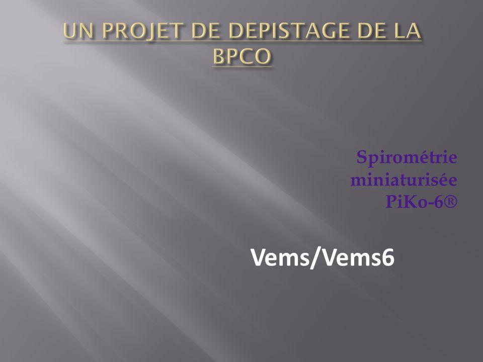 Spirométrie miniaturisée PiKo-6® Vems/Vems6