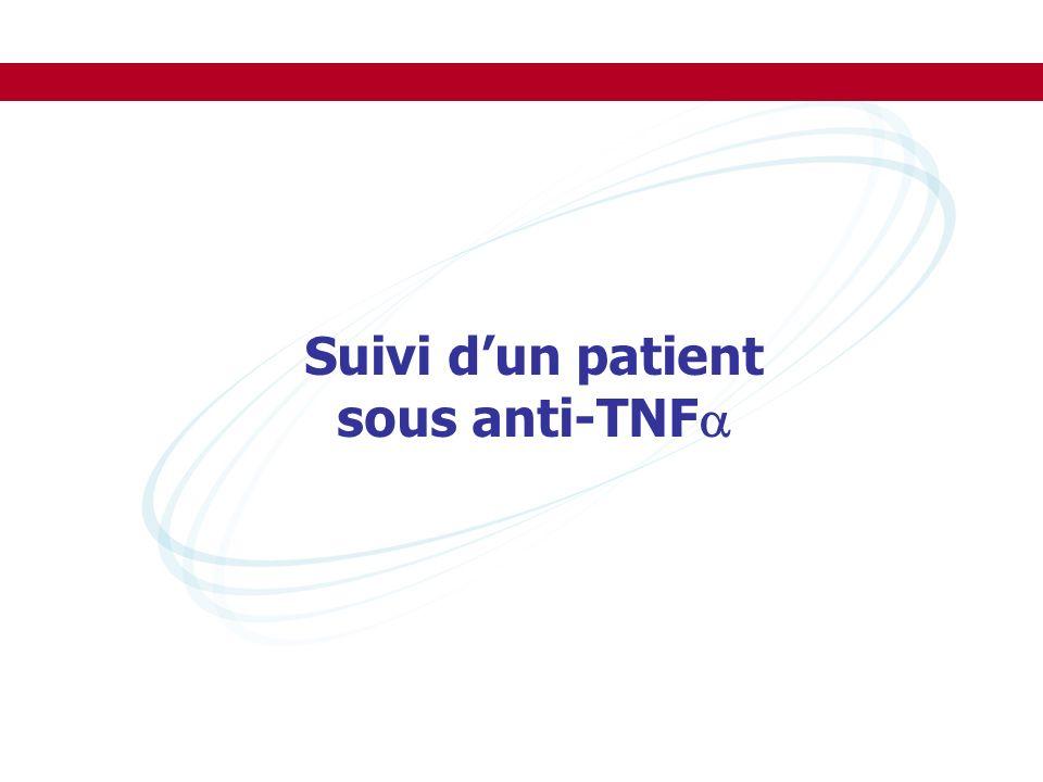 Suivi dun patient sous anti-TNF