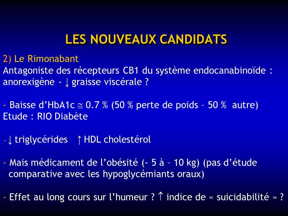 LES NOUVEAUX CANDITATS 1) Les glitazars PPAR et Effets hypoglycémiant (PPAR ) et hypolipémiant (PPAR ) ……. plus là !