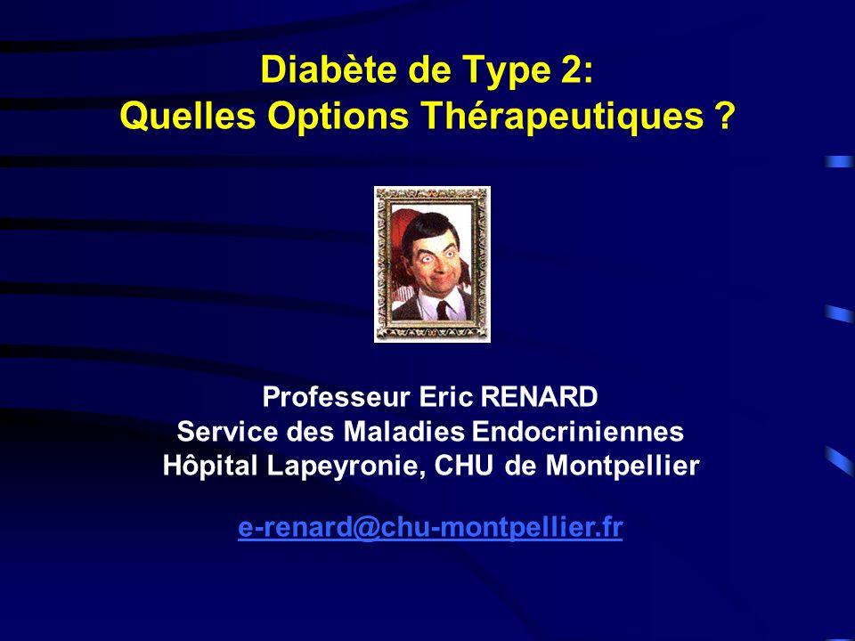 Diabète de Type 2: Quelles Options Thérapeutiques .