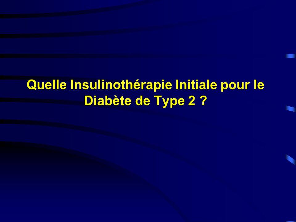 Quelle Insulinothérapie Initiale pour le Diabète de Type 2 ?