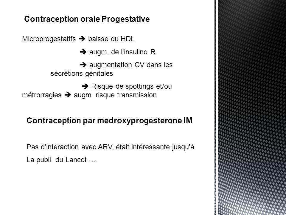 Implant Contraceptif Interaction entre letonogestrel et INNI et IP Dim.