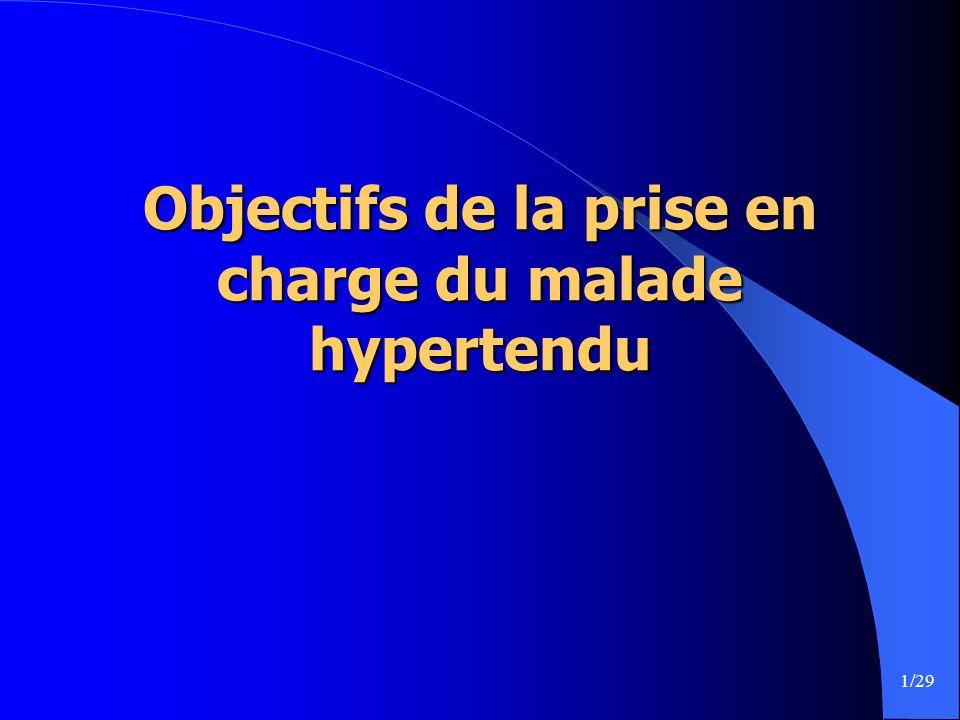 1/29 Objectifs de la prise en charge du malade hypertendu