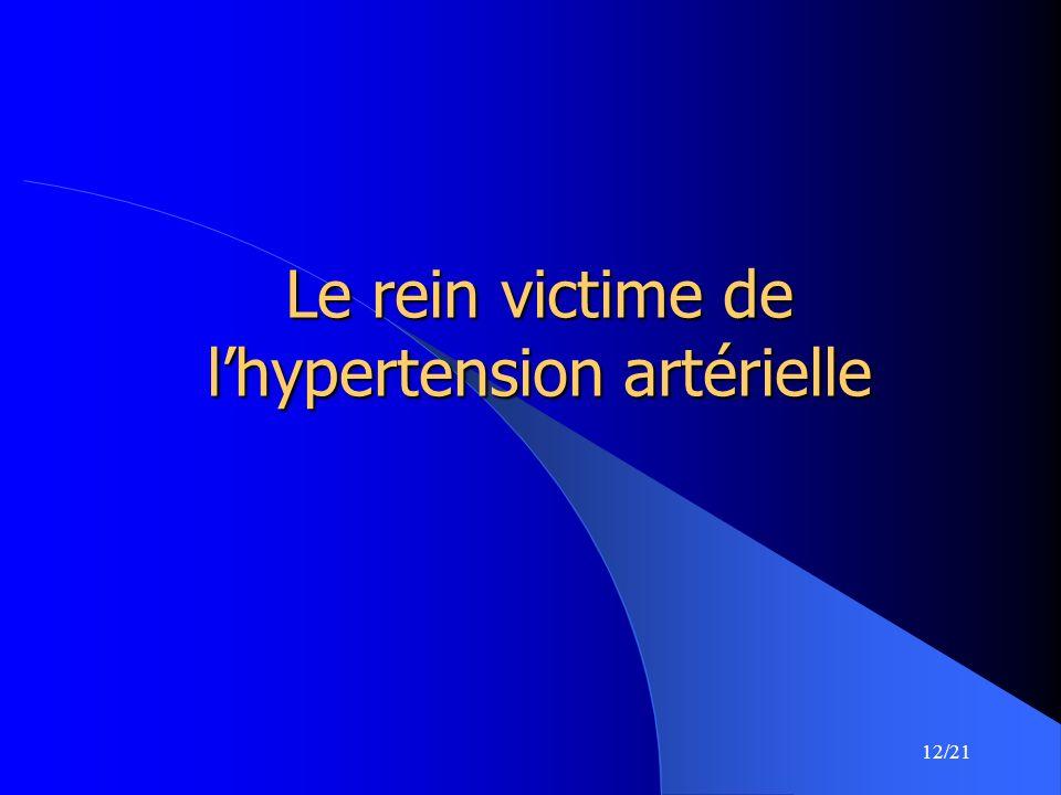 12/21 Le rein victime de lhypertension artérielle