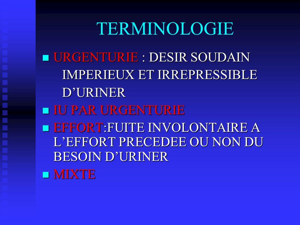 TERMINOLOGIE URGENTURIE : DESIR SOUDAIN URGENTURIE : DESIR SOUDAIN IMPERIEUX ET IRREPRESSIBLE IMPERIEUX ET IRREPRESSIBLE DURINER DURINER IU PAR URGENT