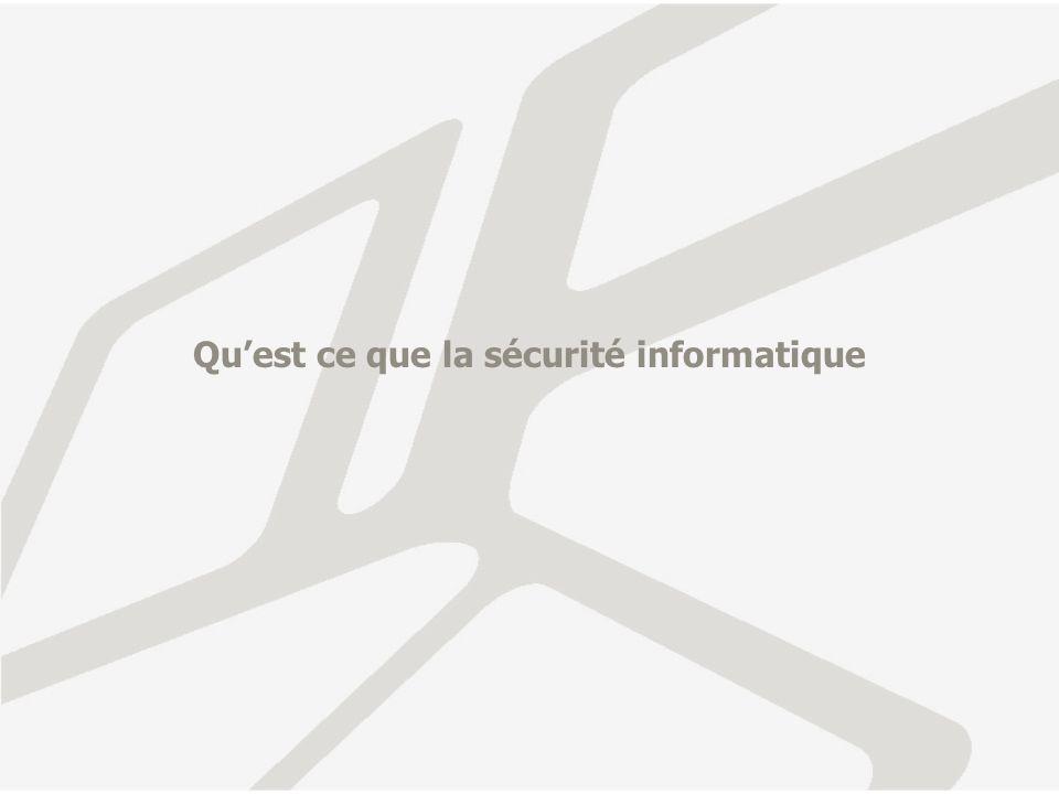 Quest ce que la sécurité informatique