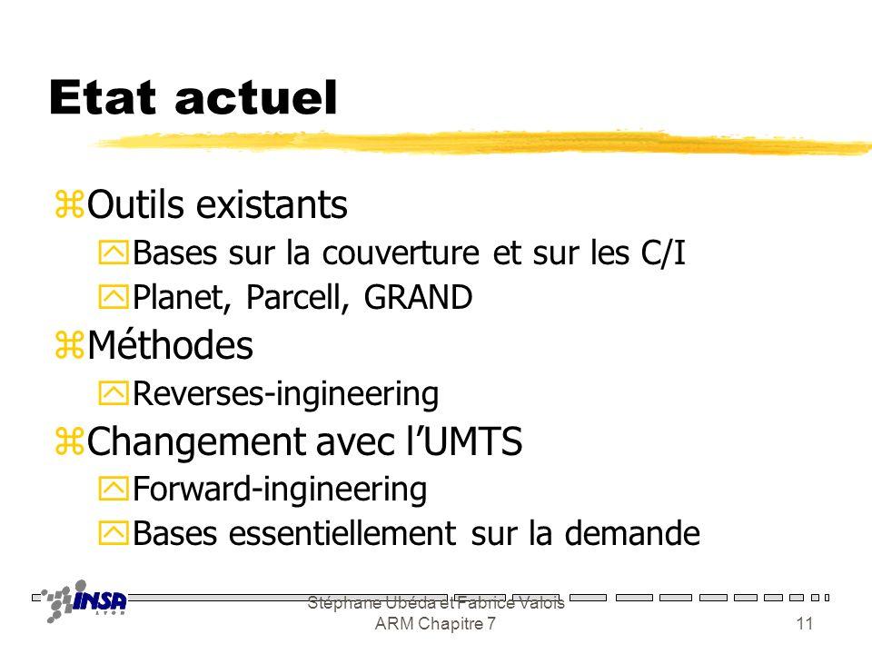 Stéphane Ubéda et Fabrice Valois ARM Chapitre 710 Contraintes zPositionnement des émetteurs yLégalités, accessibilité xMaintenance, approvisionnement
