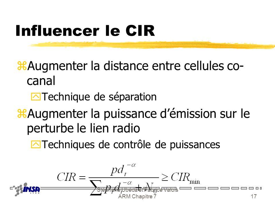 Stéphane Ubéda et Fabrice Valois ARM Chapitre 716 Évolution du CIR
