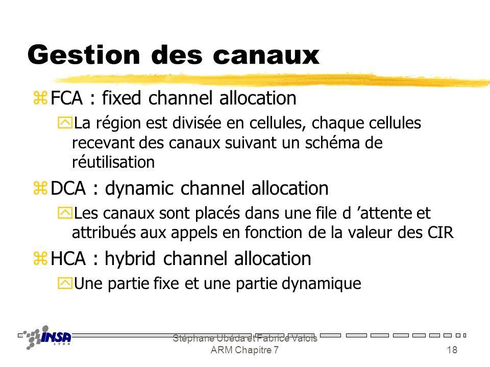 Stéphane Ubéda et Fabrice Valois ARM Chapitre 717 Influencer le CIR zAugmenter la distance entre cellules co- canal yTechnique de séparation zAugmente