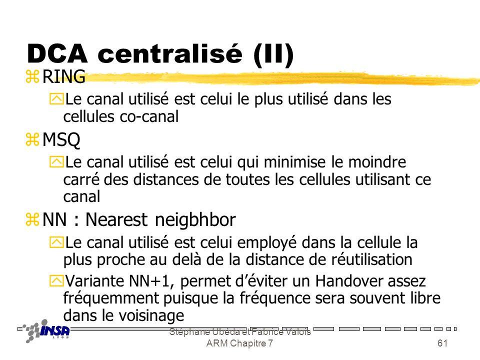 Stéphane Ubéda et Fabrice Valois ARM Chapitre 760 DCA centralisée (I) zFA : first avaible yLe premier non utilisé dans la distance de réutilisation zL