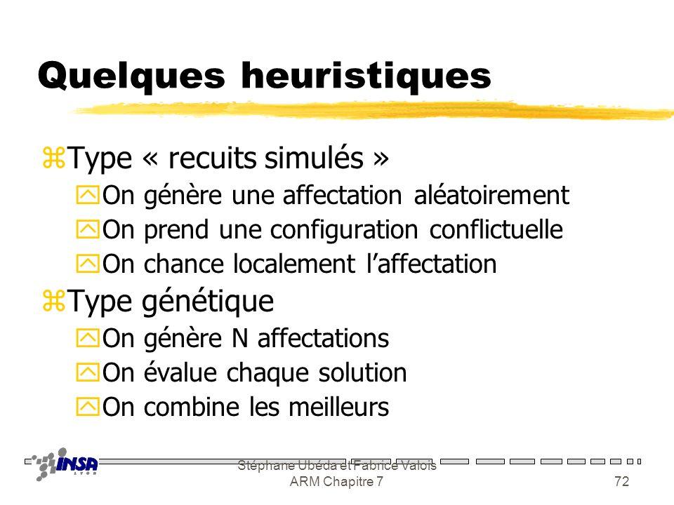 Stéphane Ubéda et Fabrice Valois ARM Chapitre 771 Allocation de fréquences 3 5 6 4 7 4 6 3 3 4 4 2 2 2 Demandes Fréquences minimales 19 !!! 0 1 2 2 1