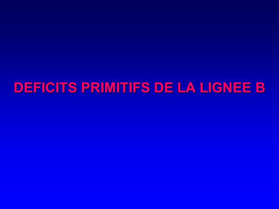DEFICITS PRIMITIFS DE LA LIGNEE B