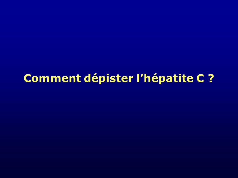 Diagnostic biologique d une infection par le virus de l hépatite C Contage 2 46 8 10 1214 161820 semaines fenêtre sérologique ARN VHC ALAT Ac VHC Diagnostic direct Ag RT-PCR Diagnostic indirect ELISA RIBA